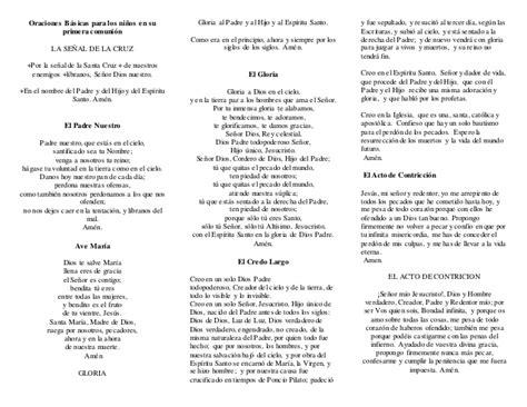 preguntas para hacer la primera comunion oraciones b 225 sicas para los ni 241 os en su primera comuni 243 n
