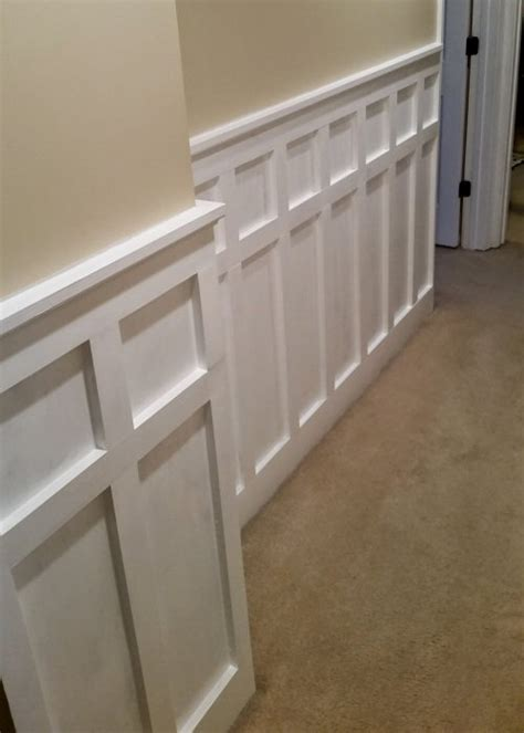 Square Panel Wainscoting How To Install Board And Batten Wainscoting White Painted