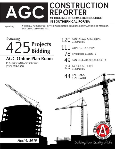 agc plan room agc construction reporter april 6 2016 by agc san diego chapter issuu