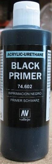 vallejo paints 200ml bottle black primer
