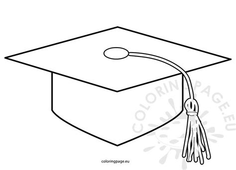 printable graduation cap pattern coloring page