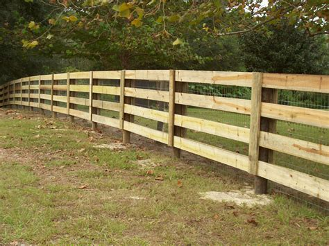 How To Build A 3 Rail Wood Fence   Wood Ideas