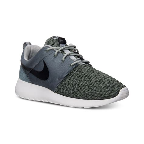 casual nike sneakers nike mens roshe run premium casual sneakers from finish