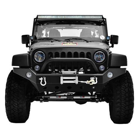 Bumper D jeep 07 16 jk wrangler black textured width front