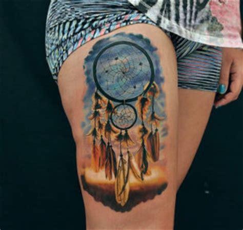 dreamcatcher garter tattoo leg tattoos best tattoo ideas designs part 3