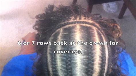 mirco braids and wave ssew in har styles sew in with deep wave micro braids youtube