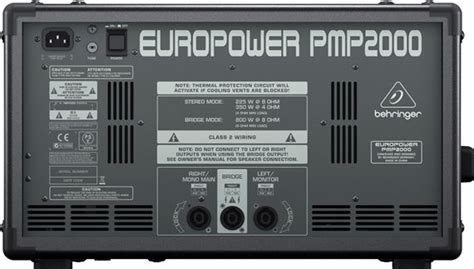 behringer europower pmp2000 powered mixer images