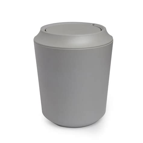 designer bathroom bin umbra fiboo bathroom waste bin grey black by design