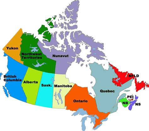 maps in canada canada states map