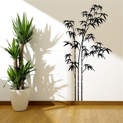 tree stencil for wall mural bamboo tree grass jungle wall sticker decal mural stencil vinyl transfer ebay
