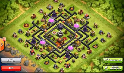 Layout Coc Copy | top 10 clash of clans town hall level 9 defense base design