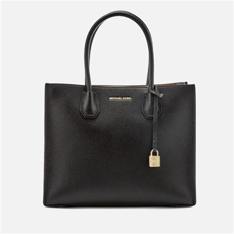 Michael Kors Mercer Tote Large Sign Black michael michael kors s mercer large conversational tote bag black