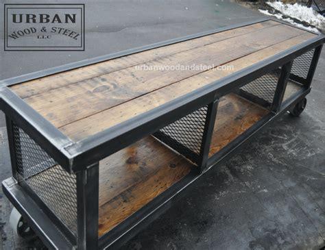 industrial wood coffee table copley industrial coffee table wood steel llc