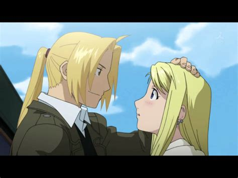 fullmetal alchemist brotherhood edward and winry kiss ed x winry when you kiss me youtube