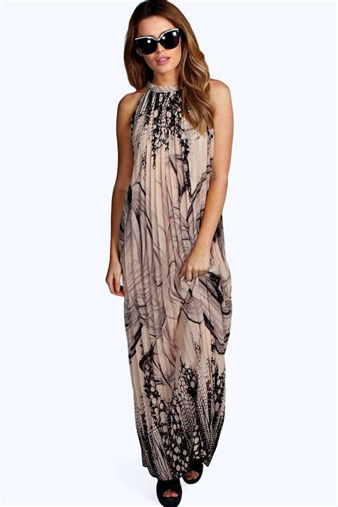 Maxi Freya Bordir Emas In freya chiffon border print maxi dress at boohoo
