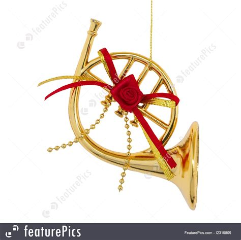musical instruments christmas trumpet stock picture   featurepics