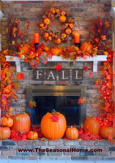 The Best Fall Decor On 24 Best Fall Mantel Decorating Ideas And Designs For 2017