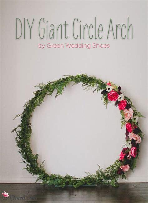 diy giant circle arch diy wedding wreath wedding