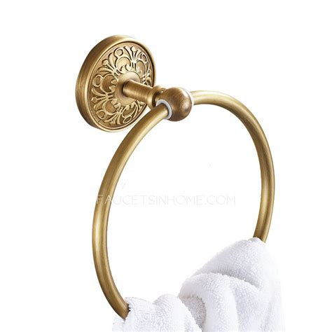 bathroom towel rings antique brass vintage carved bathroom towel rings
