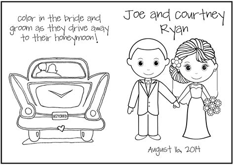 wedding activity book pages coloring pages