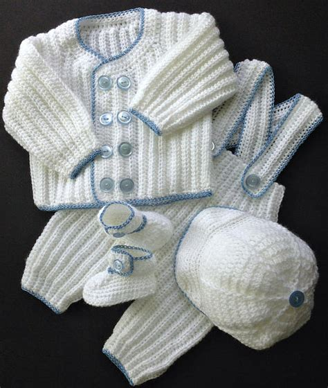knitting conover nc baby boy christening crochet pattern sweater
