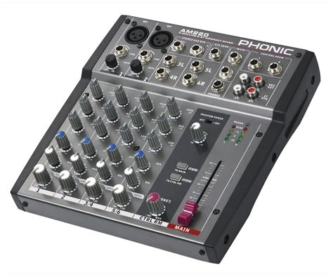 Audio Mixer Radio am 220 2 mic line 2 stereo input compact mixer
