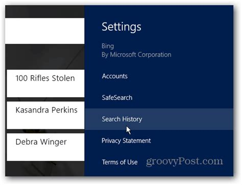 Search History Delete Or Disable Windows 8 App Search History