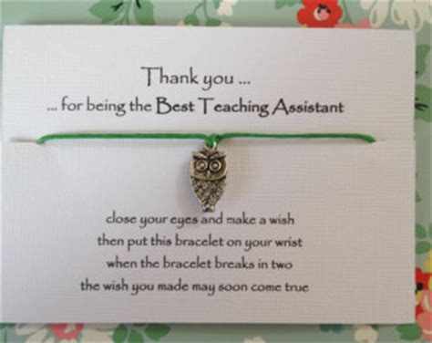 Thank You Note To Assistant Teaching Assistant Etsy Uk