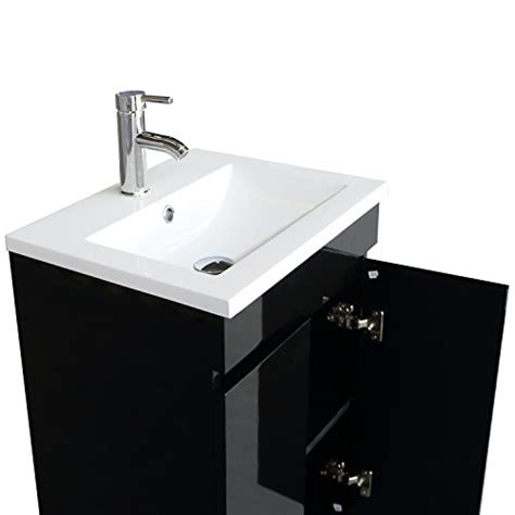 20 inch vanity sink combo bathjoy 20 inch black single wood bathroom vanity cabinet