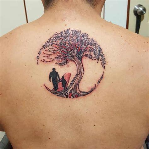 tatuaggio fiore della vita albero della vita braccio