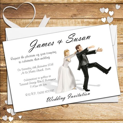 wedding invitations evening 10 personalised wedding invitations day or evening n40