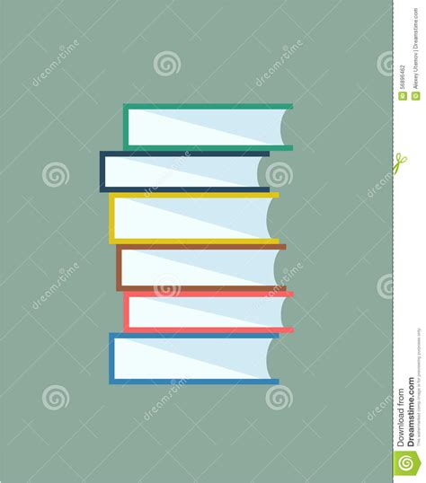 design elements edu books stack vector isolated school objects or stock
