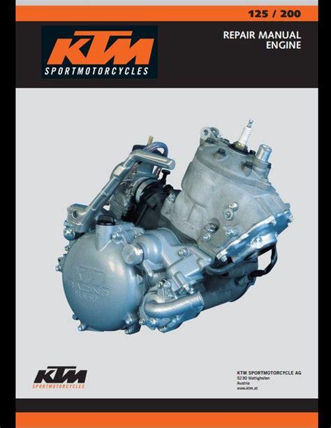 Ktm 125 200 Sport Motocycle Engine Service Repair Workshop