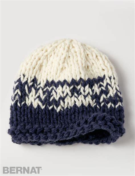 knitting pattern bulky yarn hat yarnspirations com bernat bulky gradient hat patterns