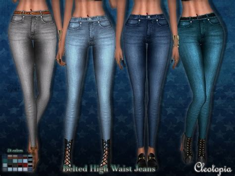 sims 4 high waisted jeans vintage high waist jeans at cleotopia 187 sims 4 updates