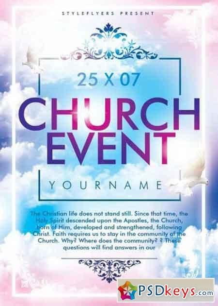 template church flyer church event psd flyer template 187 free download photoshop