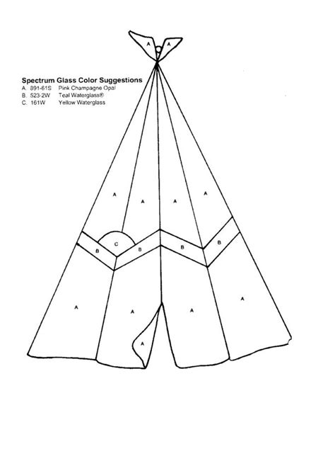 teepee template stained glass pattern teepee