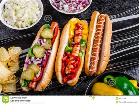 all beef dogs all beef dogs variantion of dogs stock photo image 45724368