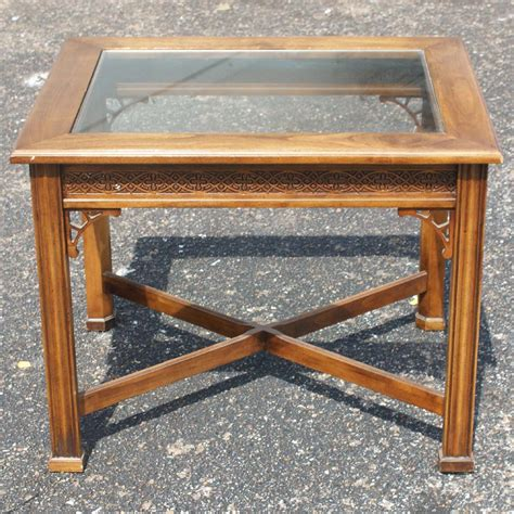 wood glass end metro retro furniture traditional style wood glass