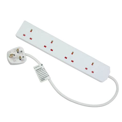 Adaptor Multi 4 way multi socket adaptor suitable for plugs with transformers lights uk led