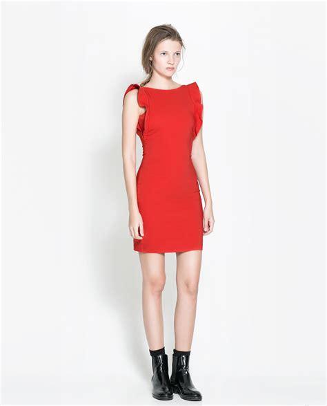 Dsjt1171206179781 Mini Dress Ruffle Dress Zara Pink zara sleeveless dress with ruffles in lyst