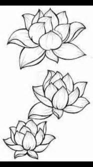 Lotus Outline Picture Lotus Flower Outline Crafty Crafty Crafty