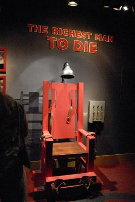Real Electric Chair by Real Electric Chair Picture Of The Mob Museum Las Vegas