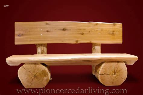 cedar log bench pioneer cedar living cedar log bench pioneer cedar living