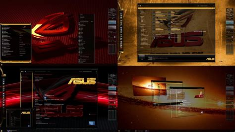 download themes windows 7 rog asus rog desktop theme for windows 7 by ionstorm01 on