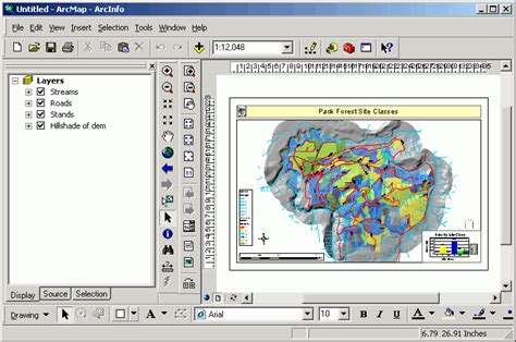layout template gis exercise map layouts