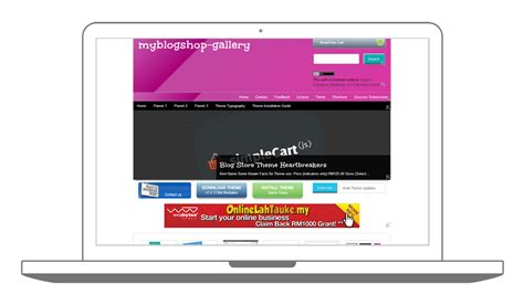 official my blogshop gallery blogger template installation