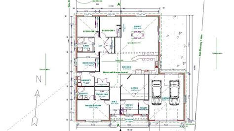 autocad floor plan drawing plans of houses modern house