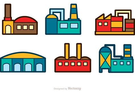 design icon factory factory building vector icons download free vector art