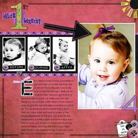 scrapbook layout for first haircut first haircut quotes quotesgram